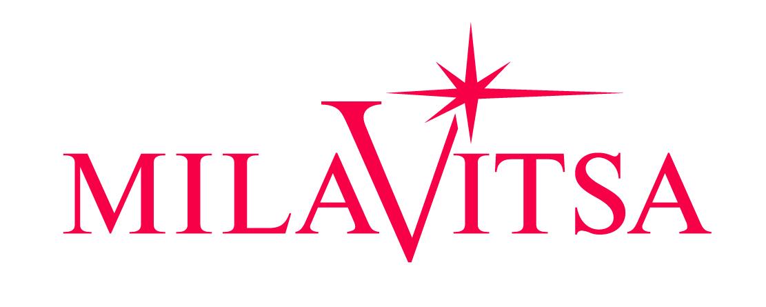 Логотип milavitsa малиновые буквы