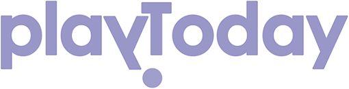 Логотип play today сиреневые буквы