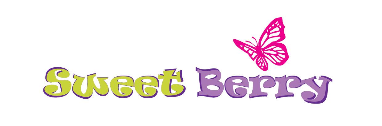 Логотип Sweet Berry с бабочкой