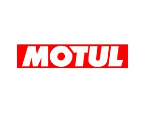 Логотип Motul красный фон белые буквы