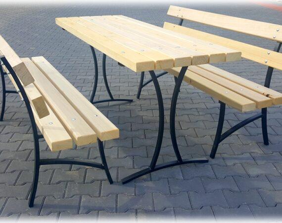 Столы и скамейки из металла и дерева